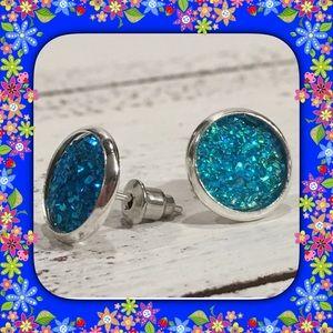 Jewelry - Acrylic ( Druzy Look Like ) Stud Earrings